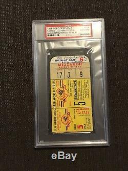 PSA 1956 Mantle HR Larsen Perfect game World Series Ticket Yankees Dodgers