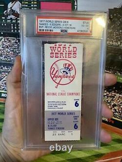 PSA Ticket Baseball 1977 World Series New York Yankees Gm 6 Reggie Jackson 3 HR