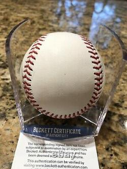 Pedro Strop Signed 2016 World Series Baseball Chicago Cubs Beckett COA With Cube