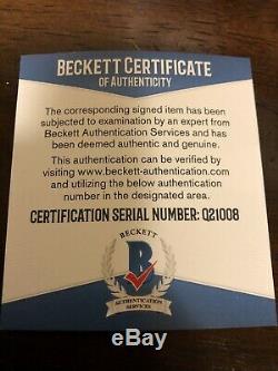 Pedro Strop Signed 2016 World Series Baseball Cubs Beckett COA With Inscription