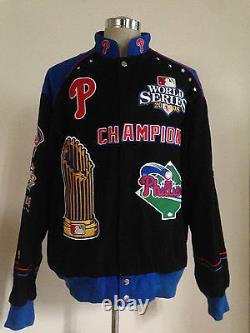 Philadelphia Phillies G-iii Carl Banks World Series Baseball Jacket Men Large