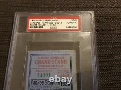 Psa 1926 World Series Ticket NY Yankees cardinals Gehrig Ruth Rogers Hornsby