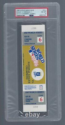 Psa 8 Vintage 1985 World Series Cardinals @ Royals Full Baseball Ticket Game #6