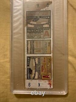 Psa Full 1929 World Series Ticket Philadelphia A's Cubs Foxx Hr Grove Cochrane