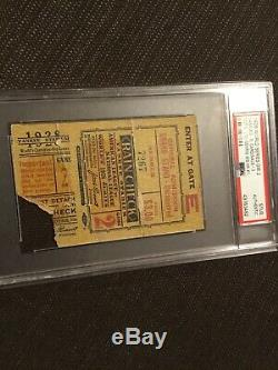 Psa Lou Gehrig Hr #1 1928 World Series Ticket NY Yankees G2 Cardinals