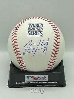 Randy Arozarena Signed Auto Autographed 2020 World Series Baseball JSA W COA Ray