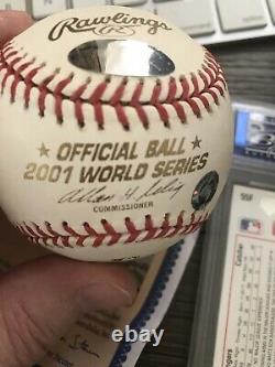 Randy Johnson Autograph Baseball 2001 World Series MVP Steiner COA