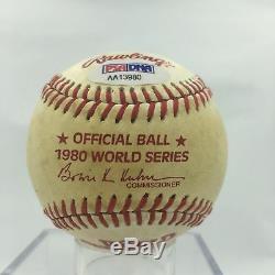 Rare George Brett Signed Game Used 1980 World Series Baseball PSA DNA