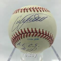 Rare Kirby Puckett Signed Inscribed ALCS MVP 1991 World Series Baseball PSA DNA