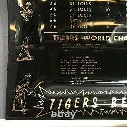 Rare Vintage 1968 World Series Champion Detroit Tigers Baseball Glass Ash Tray
