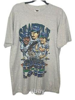 Rare Vintage Seattle Mariners Caricature 90's T-Shirt MLB Baseball Single Stitch
