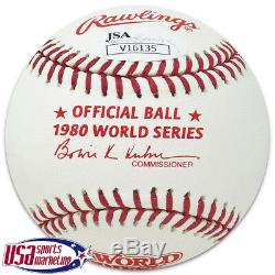 Reds Pete Rose Signed Autographed 1980 World Series Baseball JSA Auth