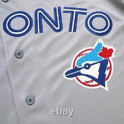 Roberto Alomar Toronto Blue Jays 1992 World Series Road Grey Men's Jersey