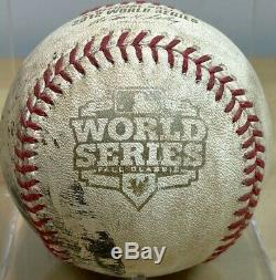S. ROMO 2nd to LAST PITCH 2012 WORLD SERIES GM3 GAME-USED BASEBALL GIANTS TIGERS