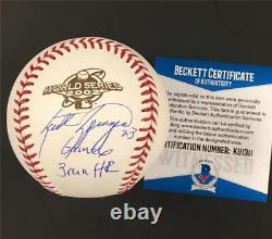 SCOTT SPIEZIO Signed Game 6 HR 2002 World Series Baseball /50 Beckett BAS COA