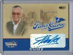 STAN LEE 2004 Donruss World Series Fans of the Game Auto/Autograph #FG-2 F3156