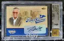 STAN LEE 2004 World Series Fans of the Game Autograph BGS 9 MINT MARVEL