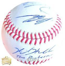 SUPER RARE Chicago Cubs (7) Team Signed 2016 World Series Baseball Autograph