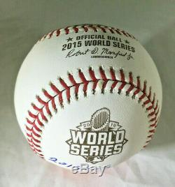 Salvador Perez / K. C. Royals / Autographed 2015 World Series Oml Baseball / Jsa