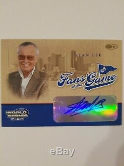 Stan Lee 2004 Donruss World Series Fans of the Game Signatures