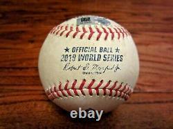Stephen Strasburg Nationals 2019 World Series Game 6 Used Baseball Astros 10/29