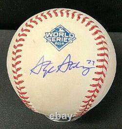 Stephen Strasburg Signed Official 2019 World Series Baseball MLB Hologram