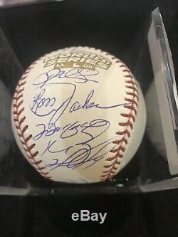 Stunning 2004 Boston Red Sox World Series Champs Team Signed WS Baseball JSA COA