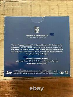 TOPPS x Ben Baller 2020 LA Dodgers World Series Cards Commemorative Set Sealed