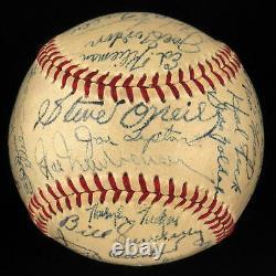 The Finest 1948 Cleveland Indians World Series Champs Team Signed Baseball JSA