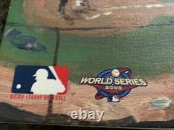 Thomas Kinkade SF Giants World Series 2002 Baseball Champions Canvas AT & T Park