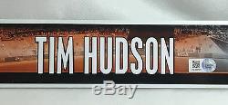 Tim Hudson Game-used Locker Name Plate Tag 2014 World Series Yr Giants Baseball