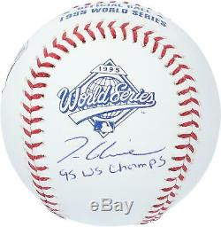 Tom Glavine Atlanta Braves Signed 1995 World Series Baseball & 95 WS Champs Insc