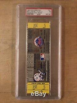 Tom Seaver 1969 World Series full ticket autograph PSA/DNA game 4 signed unused