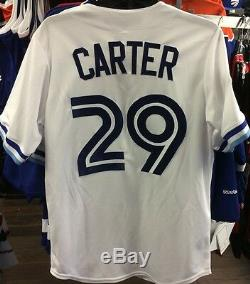 Toronto Blue Jays 1993 Jersey Joe Carter Baseball World Series Patch Jersey L