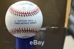 Toronto Blue Jays Joe Carter #29 Signed 1993 World Series Baseball Jsa Witness