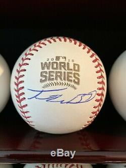 Travis Wood Signed 2016 World Series Baseball Rawlings Chicago Cubs MLB PSA COA