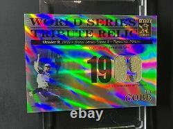 Ty Cobb RARE Jersey Pinstripe 2003 Topps Tribute World Series Relic GU HOF /425