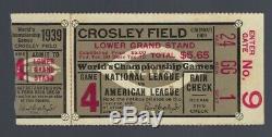 VINTAGE 1939 WORLD SERIES NEW YORK YANKEES @ CINCINNATI REDS TICKET STUB Game 4