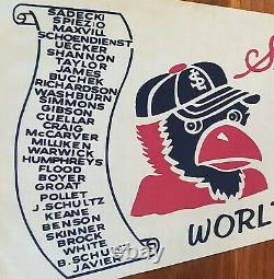 VINTAGE 1964 St Louis Cardinals Baseball WORLD SERIES Scroll Pennant! WOW