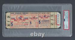 Vintage 1952 World Series Dodgers @ Yankees Full Ticket Game #5 Mantle Psa