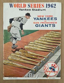 Vintage 1962 World Series Program Sf Giants @ New York Yankees Mantle
