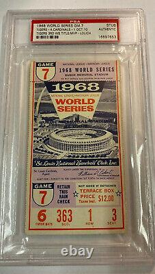 Vintage 1968 World Series Game 7 Stub Detroit Tigers/St Louis Cardinals PSA Auth