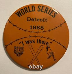 Vintage 1968 World Series I Was There Pin Detroit Tigers/St Louis Cardinals