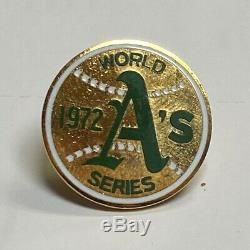 Vintage 1972 Mlb Oakland A's Athletics World Series Baseball Press Pin Balfour