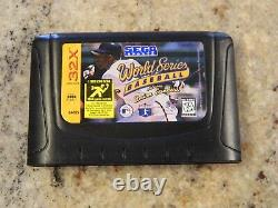Vintage Sega Genesis 32X Game Cartridge World Series Baseball with Deion Sanders