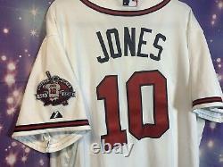Vtg Baseball ATLANTA BRAVES CHIPPER JONES MAJESTIC MLB JERSEY Cool Base SZ 48