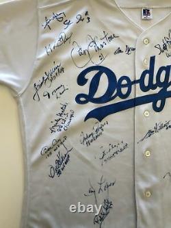 Vtg Los Angeles LA Dodgers World Series Team Signed Autographed Baseball Jersey