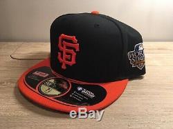 Vtg New 2010 World Series San Francisco Giants Mlb Baseball Hat Cap Fitted 7 1/2