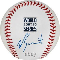 Will Smith LA Dodgers Signed 2020 MLB World Series Champs Logo Baseball