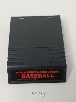 World Series Major League Baseball (Intellivision, 1982) With Original Box Manual